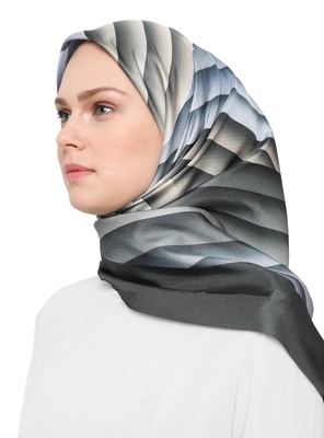JSDC Women's Islamic Wear Silk Crepe Printed Square Stole Dupatta