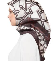 JSDC Women's Party Wear Crepe Silk Printed Square Scarf Stole Hijab