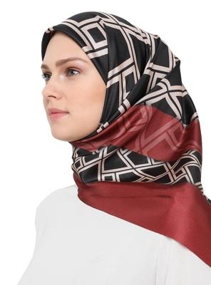 JSDC Women's Islamic Wear Crepe Silk Printed Square Scarf Hijab Stole