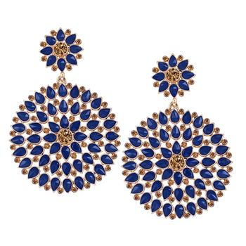 Blue diamond earrings