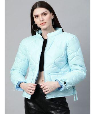 Blue Front Pocket Puffer Jacket
