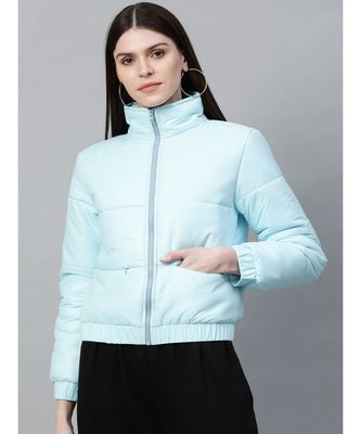 Blue Full Sleeve Quilted Jacket
