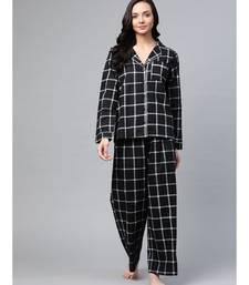 Black Check Night Suit