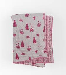 TEXSTYLERS Cotton Reversible Winter Block Print Jaipuri Double Bed Quilt With Filling