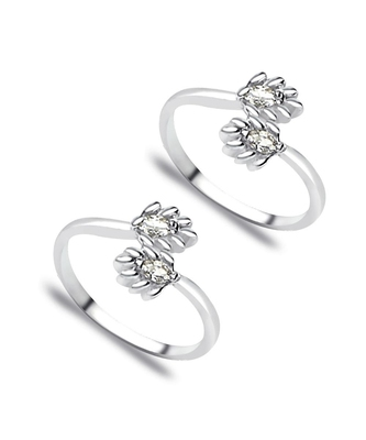 Upper Openable Silver Toe Ring-TR174