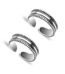 Trendy Silver Toe Ring-TR205