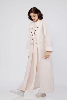 Xenia Double Lapel Long Jacket