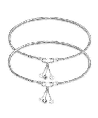 Fasinate Fox Silver Anklet Charms-ANK086