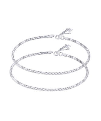 Flexible Sterling Silver Anklets-ANK091