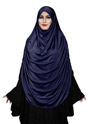 JSDC Women's Outdoor Wear Satin Lycra Plain Long Chaderi Abaya Hijab With Naqab & Frills Style