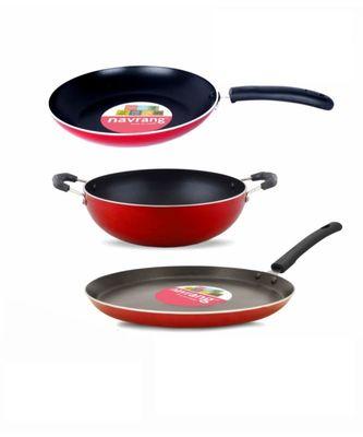 Navrang Cookware Set (Aluminium, 3 - Piece)