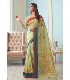 Multicolour Woven  Cotton Silk Saree With Blouse