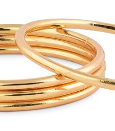 Plain Gold Plated Bangle Set Of 4