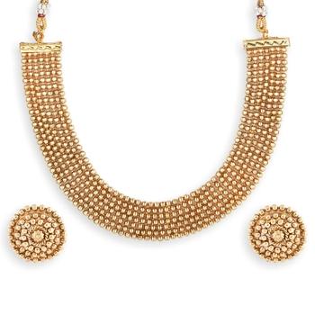 Gold Plated South Indian Designer Necklace Sets