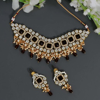 Brown necklace-sets