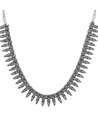 Antique German Silver Black Metal Necklace Tribal  Style Fusion Jewellery for Women