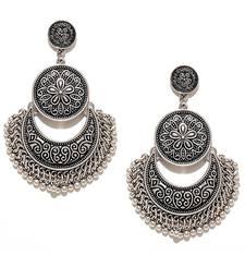 Oxidized Chandbali Silver Earrings For Women & Girls
