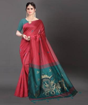 Latest Designer Jacquard Banarasi silk Woven  saree with Blouse