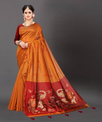 Latest Designer Jacquard Banarasi silk Woven  saree with Blouse