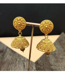 Gold Plated Traditional Style Jhumki