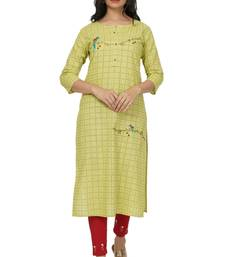 NISHIKA pure cotton designer embroidered women's  kurtis