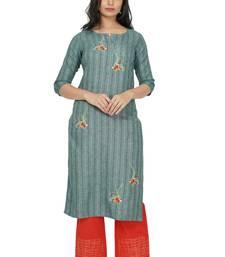 NISHIKA pure cotton designer embroidered women's  kurtis