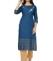 NISHIKA export quality branded rayon designer embroidery women's  kurtis