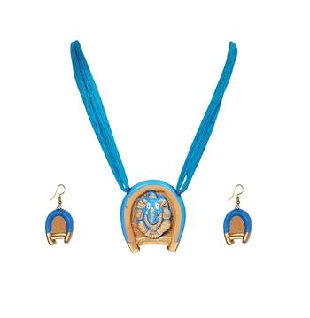 Blue terracotta-jewelry