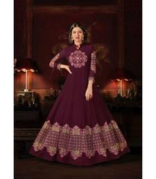 Magenta Wedding Anarkali Gowns