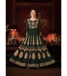 Green Wedding Anarkali Gowns