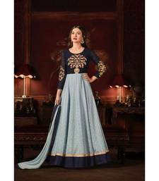 Blue Wedding Anarkali Gowns
