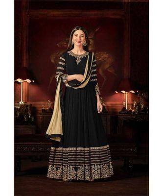 Black Wedding Anarkali Gowns