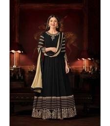 Black Wedding Anarkali Gowns