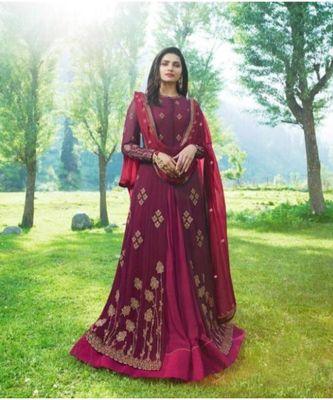 Magenta Wedding Anarkali Gowns