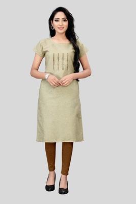 Wedani Grey cotton Stright  kurti
