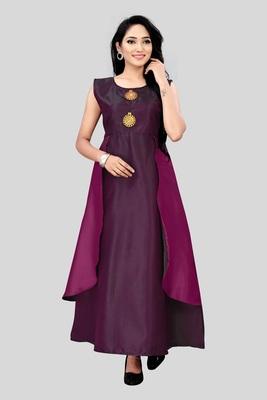 Wedani Purple silk A-line  kurti
