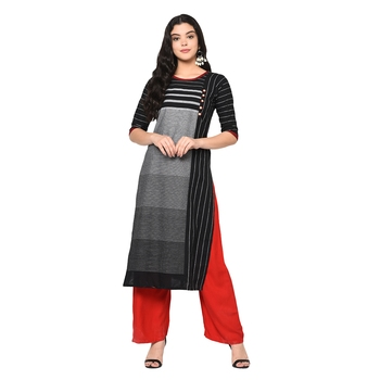 Wedani Black cotton Stright kurti