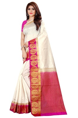 kanjivaram silk with weaving  peacok jari border Saree