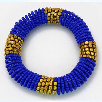 Blue Coiled Bracelet