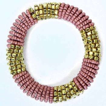 Dusty Pink Coiled Bracelet