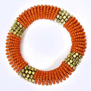 Orange Coiled Bracelet