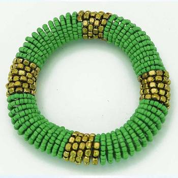 Green Coiled Bracelet