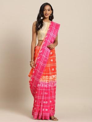 New Bandhej Ikat Shibori Print Digital Linen Saree