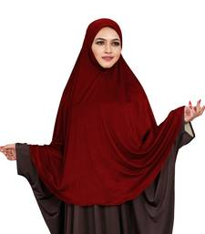 JSDC Stitched Ready To Wear Long Plain Chaderi Khimar Hijab For Women