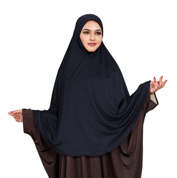JSDC Stitched Ready To Wear Long Plain Namazi Chaderi Khimar Hijab For Women