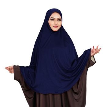 JSDC Casual Wear Stitched Ready To Wear Long Plain Namazi Chaderi Khimar Hijab For Women