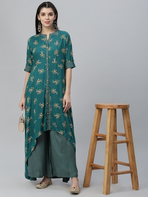 Printed Kurta and Palazzo Set