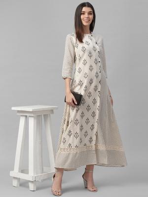 Cotton Slub Printed Dress