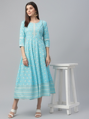 All Over Print Cotton Dress