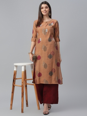 Embroidered Muslin Kurta Set